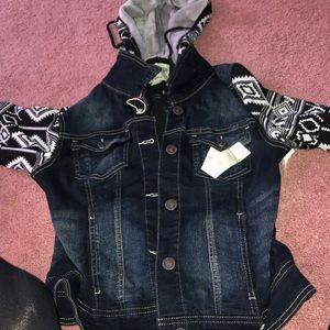 Other - Denim hooded jacket